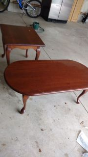 TABLES: AMISH HAND CRAFTED, SOLID CHERRY Coffee Table and End Table