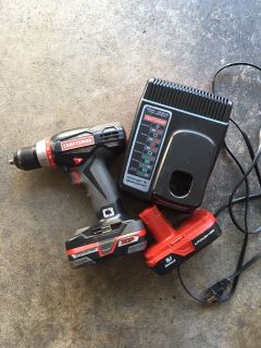 Craftsman c3 drill with two batteries and charger