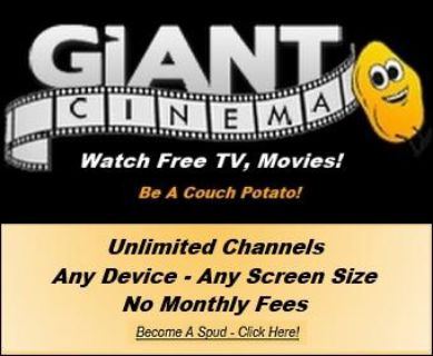 Watch Free TV - and Free Movies. 100 Free Giant Cinema
