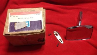 Buy NOS 1971-79 General Motors LH Outside Rear View Mirror GM # 994904 New In Box motorcycle in Dallas, Texas, US, for US $24.99