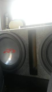 2 15in Alpine type R subs in ported box with hifonics