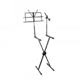 Pyle Keyboard Stand with Music Stand and Microphone Boom