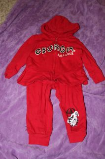 Georgia Bull Dogs Hoodie and Pants Set size 2T $5