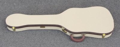 Fender TELECASTER THERMOMETER CASE - Blond Tolex W/ Antique Gold Poodle Interior - BRAND NEW