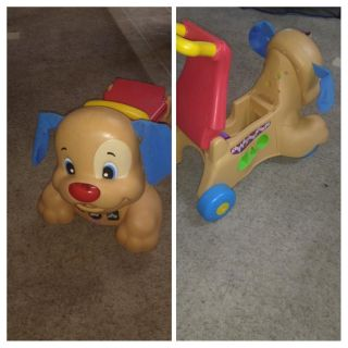 Puppy ride on / push toy