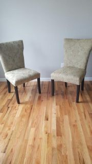 Padded paisley chairs