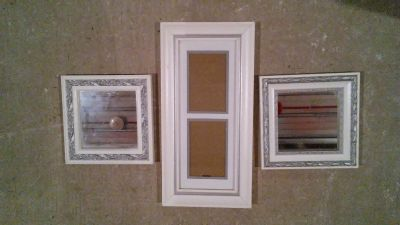 Wall Picture Frame & 2 small mirrors