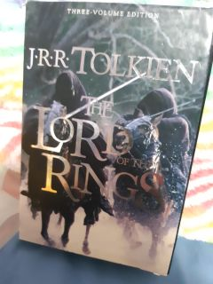 J.R.R Tolkien The Lord Of The Rings three volume edition