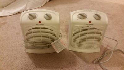 Pelonis Fan-Forced Heater-Small Room, white