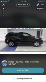 Need gone -2010 Dodge Journey - low miles