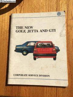 Second Generation Jetta/Golf introduction book