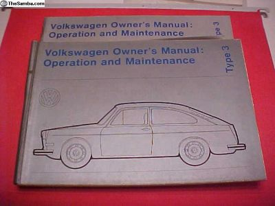 NOS 1972 Fastback owners manual