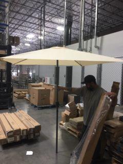 Square Patio Umbrella- White