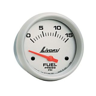 """Sell LIVORSI Electric Automotive 0-15 PSI Fuel Pressure Gauge Platinum 2 1/16"""" motorcycle in Rancho Cucamonga, California, United States, for US $126.00"""