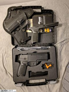 For Sale: P320 full size w/ holster + M/L grip modules