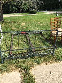 Queen sized metal frame headboard & footboard price reduction!!