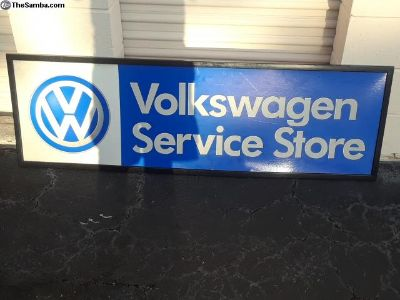 VW Car dealership sign Volkswagen