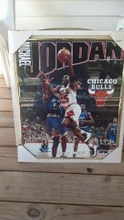 1995 starline Michael Jordan framed picture