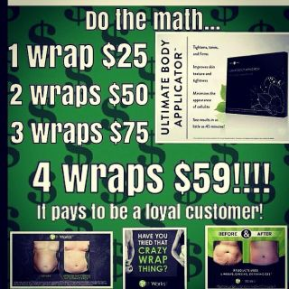 Wanna be wrapper? Id love to share my results with you! Its amazing!! Messagre me for details!!!