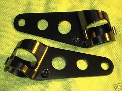 Purchase Headlight Brackets Motorcycle headlamp ears 26-35mm Cafe Racer Triumph Norton motorcycle in Canyon Country, California, US, for US $12.50