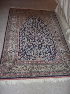 Silk Oriental Rug Hand Woven Hand Knotted