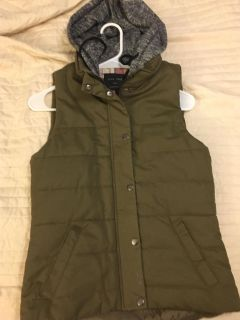 Green vest from threads boutique