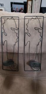 Seahorse Wall Sconces. Excellent Condition