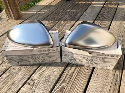 FS: European Brushed Aluminum Mirror Caps OEM