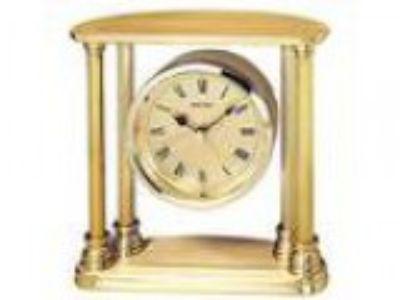 Seiko Desk and Table Alarm Clock Gold-T Solid Brass Case