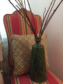 Pillow and vase