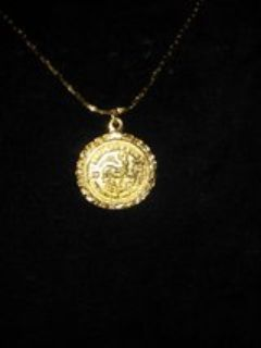 14Kt Gold Layered Krugerrand Pendant Necklace
