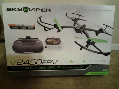 Sky Viper Streaming Drone with Autopilot - V2450GPS. Brand New in Box