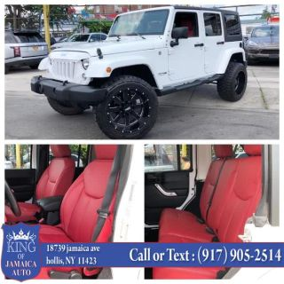 2018 Jeep Wrangler JK Unlimited Sahara 4x4 (Bright White Clearcoat)