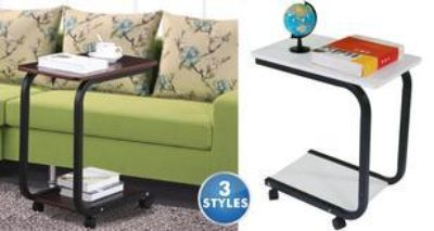 Portable rolling side table