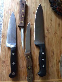 4 Kitchen knives