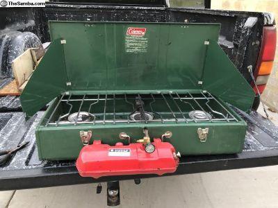 Coleman vintage 3 burner stove