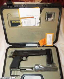 For Sale: DESERT EAGLE .50 CAL DE50 PISTOL LIKE NEW W/ ALL ORIGINAL DOCUMENTATION