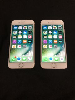 2 Apple iPhone 7 s both 128GB AT&T or Straight Talk