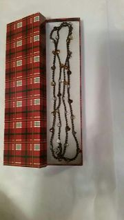 Hand crocheted beaded necklace (new)
