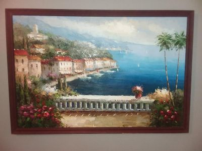 Beautiful painting set of 2 very large