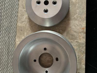 500 Cadillac aluminum crank pulley set