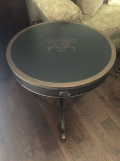 Refinished antique drum table