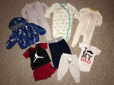 9 Piece Lot of Infant Baby Boys Clothes Size 3-6 Months Nike Sleep Sack