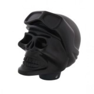 Skull Pilot Shift Knob, Black Aluminum