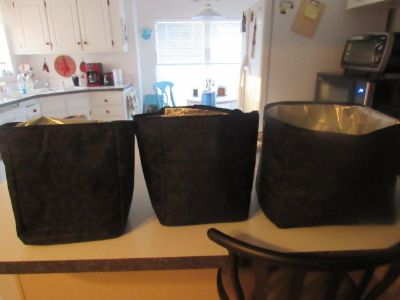 3 insulated bags fits in one another
