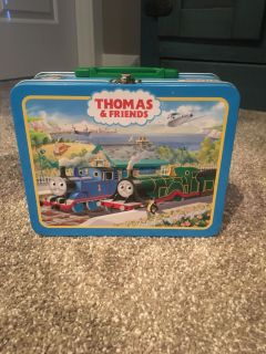 Thomas the train metal box with handle.