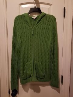 Misses' zip-up hooded sweater, size XL