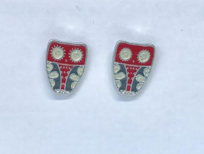 New Womens Girls Small Hypoallergenic Earring Posts in Mosaic Owls