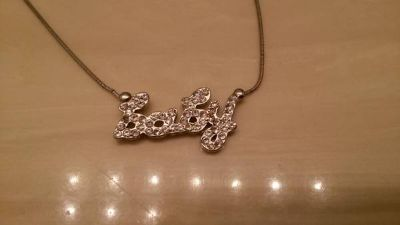 Baby crystal necklace