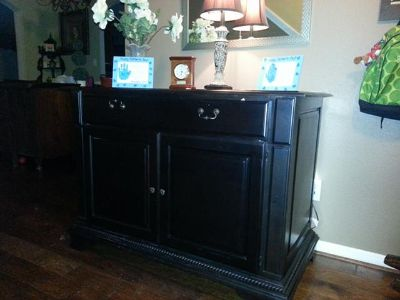 $750, TV StandDog KennelDecorative table pc